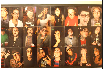 Somewhere on this wall lies the nerdiest spectacle picture of me (not pictured btw)